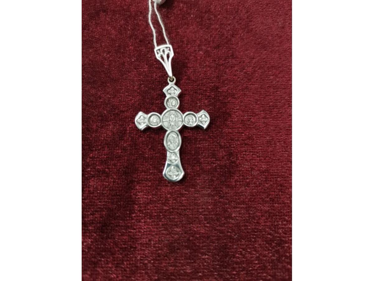 Крест с брилл. золотой