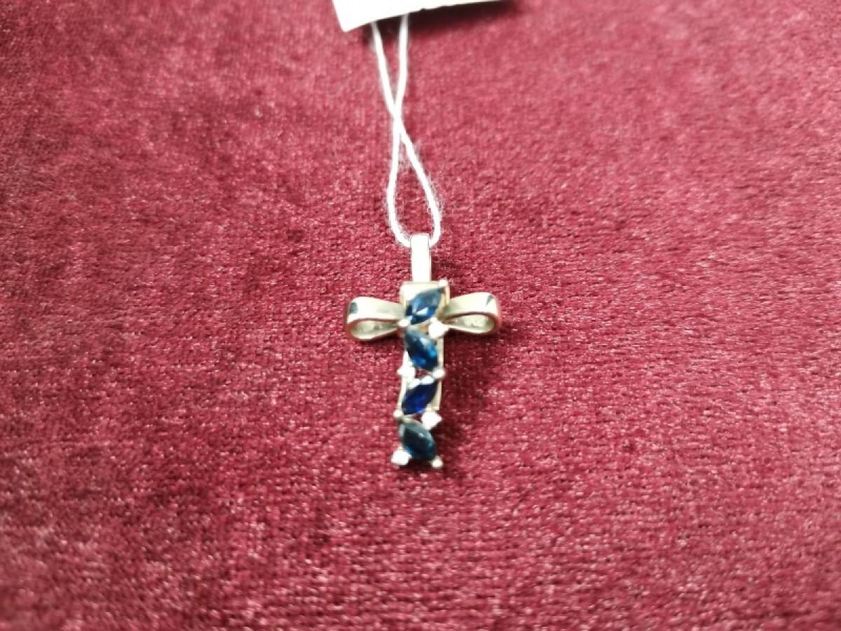 Крест с бриллиантом золотой